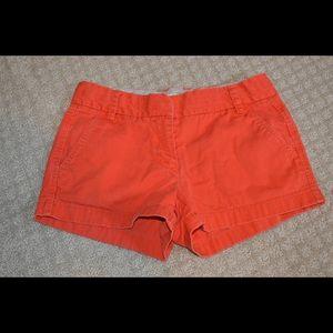 Orange JCREW shorts